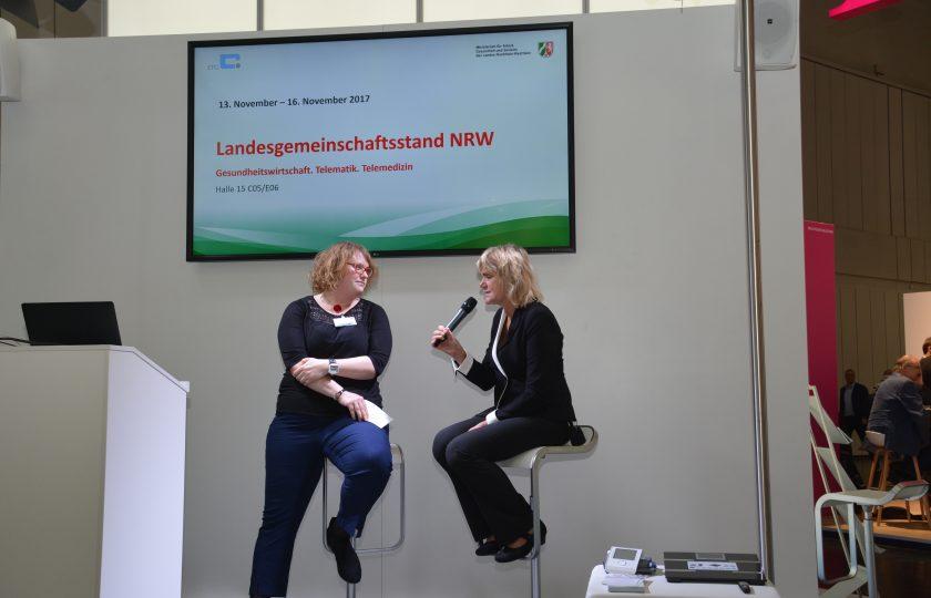 ZTG-Expertin Veronika Strotbaum interviewt Diana Droßel, stellvertretende Vorstandsvorstizende von DiabetesDE.