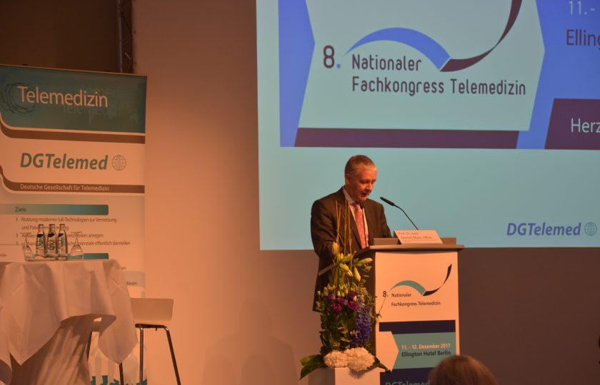 Begrüßung durch Prof. Dr. med. Gernot Marx, FRCA, Vorstandsvorsitzender der DGTelemed
