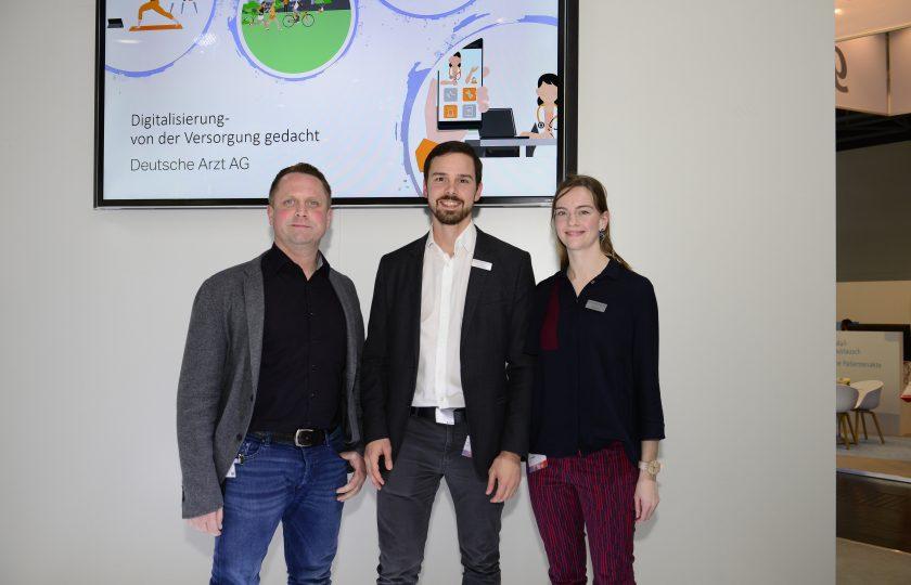 V.l.n.r.: Tim Schneider, Andreas Dohm und Simone Komp von der DAAG.