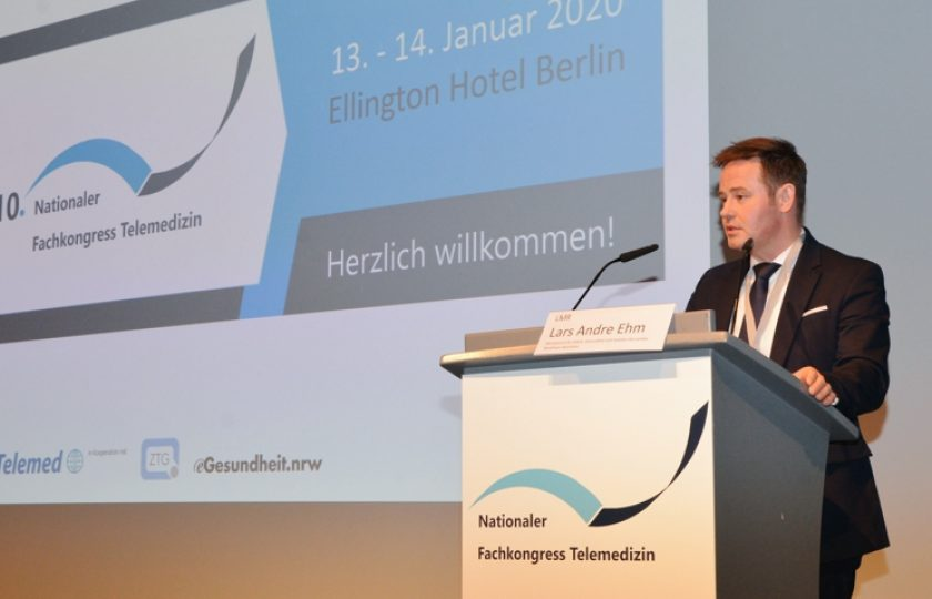 LMR Lars Andre Ehm, Gruppenleiter im Ministerium für Arbeit, Gesundheit und Soziales des Landes Nordrhein-Westfalen, sprach zu digitalen Versorgungsstrukturen in Nordrhein-Westfalen.